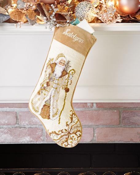 Santa Needlepoint Stocking