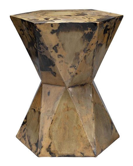 Small Crown Metallic Side Table