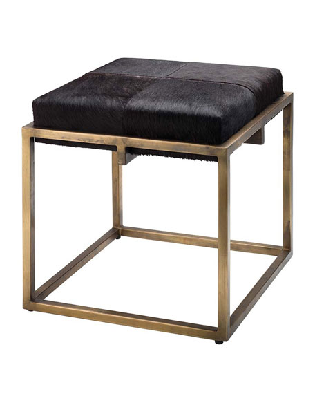 Shelby Small Hair Hide Stool