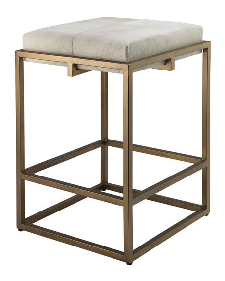 Jamie Young Shelby Hair Hide Counter Stool