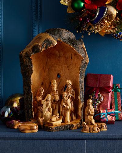 Tall Nativity Set with Crib