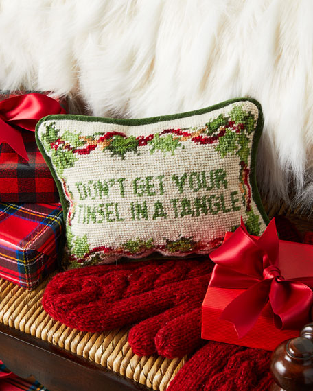 Don't Get Your Tinsel In A Tangle Needlepoint