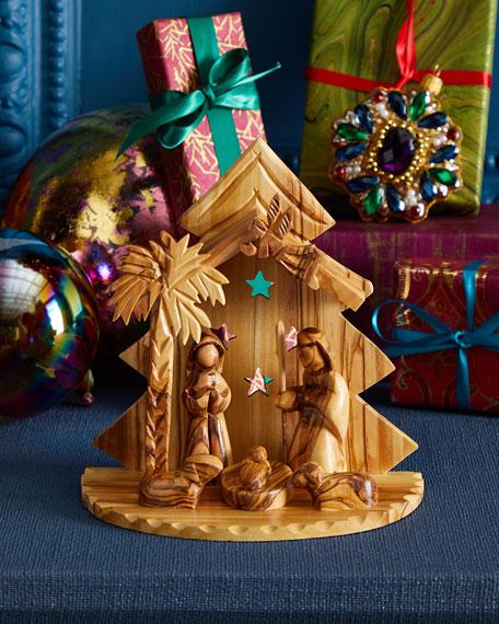 Bethlehem Star Crib with Holy Family Nativity Set