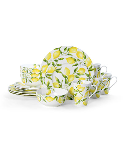 Lemons 16-Piece Dinnerware Set