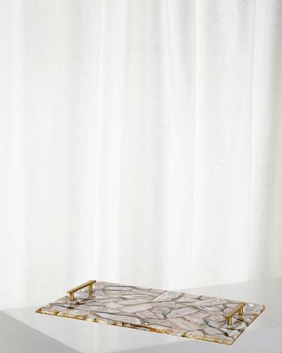 White Agate Tray