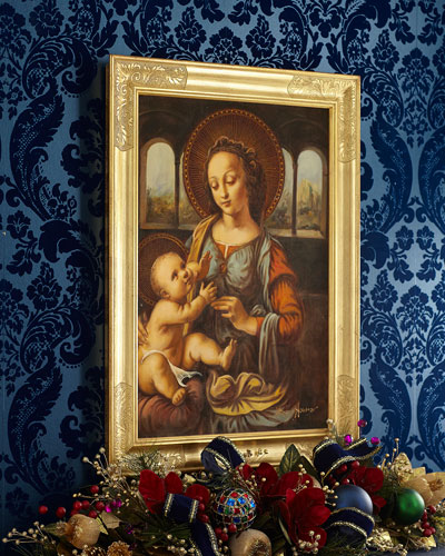 Madonna with Child in Gold Frame