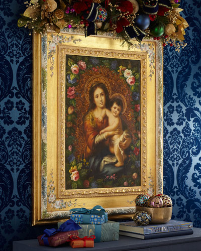 Madonna with Child in Decorative Frame