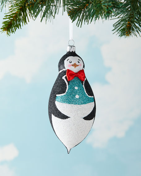 Exclusive Glittered Penguin Christmas Ornament