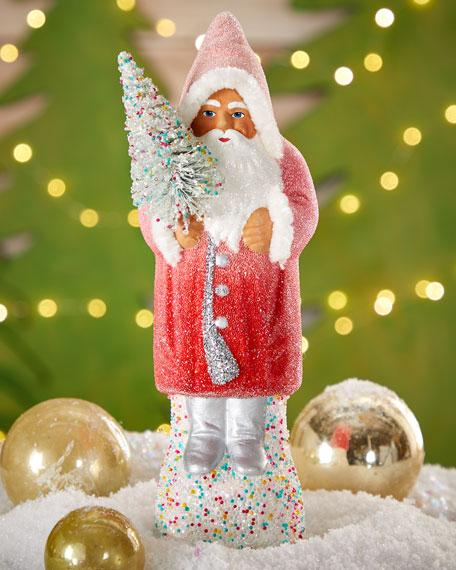 Pink Santa Figure