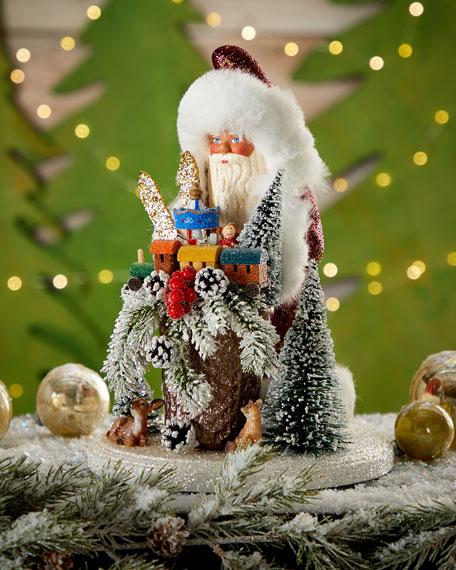 Santa and Deer Collectible