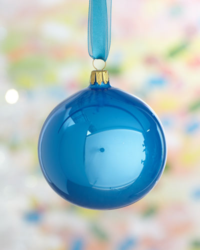 Blue Pearl Ball Christmas Ornament