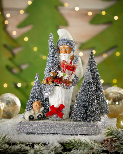 Santa With White Scene On Base