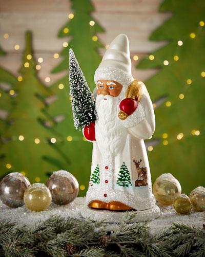 White Reindeer Santa