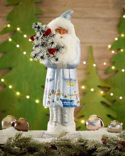 Light Blue Santa Collectible