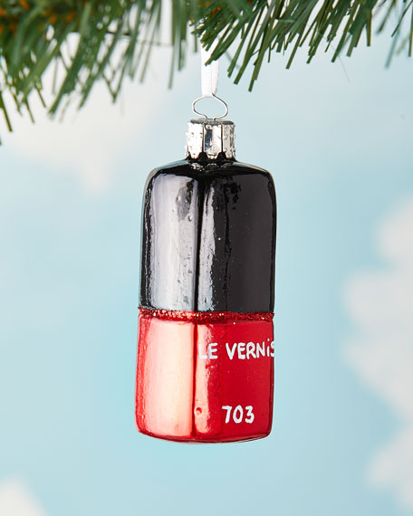 Exclusive Nail Polish Red Opal Christmas Ornament