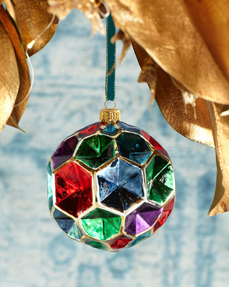Multicolored Honeycomb Ball Christmas Ornament