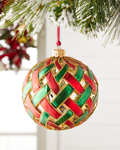 Woven Ball Christmas Ornament
