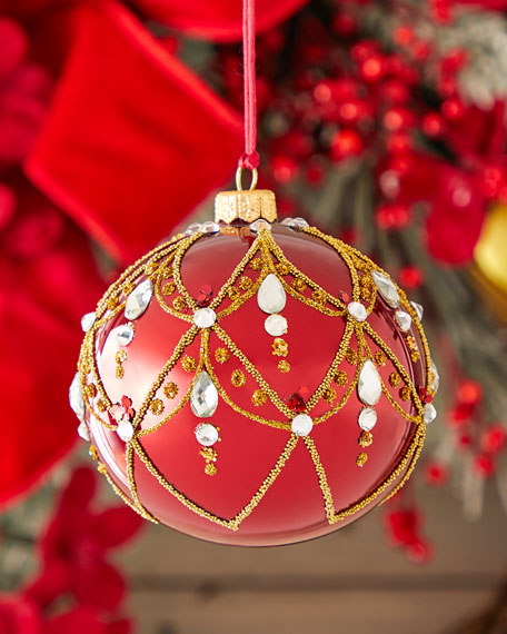 Red Shiny Ball Christmas Ornament
