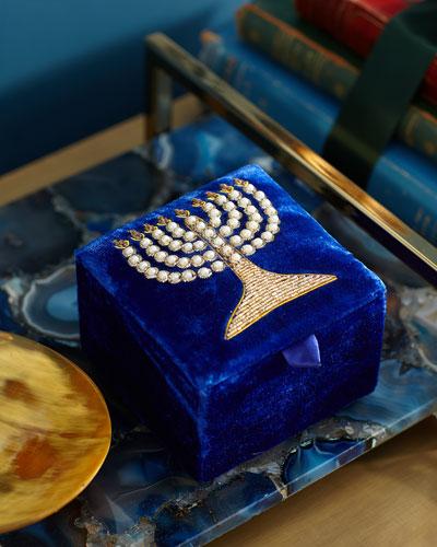 Menorah Velvet Box