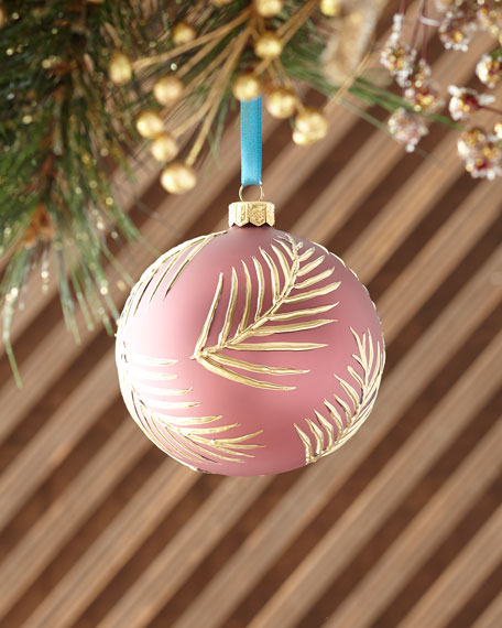 Ball With Palm Leaves Christmas Ornament