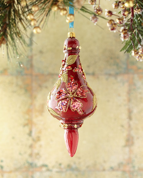 Burgundy Finial Christmas Ornament