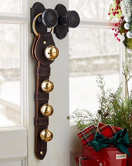 Belsnickel Enterprises Teardrop Brass Jingle Bells on Dark