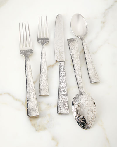 20-Piece Parisian Garden Flatware Set