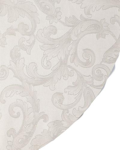 Plume Jacquard 104 Round Tablecloth