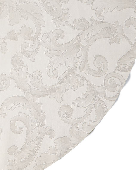 "Plume Jacquard 104"" Round Tablecloth"