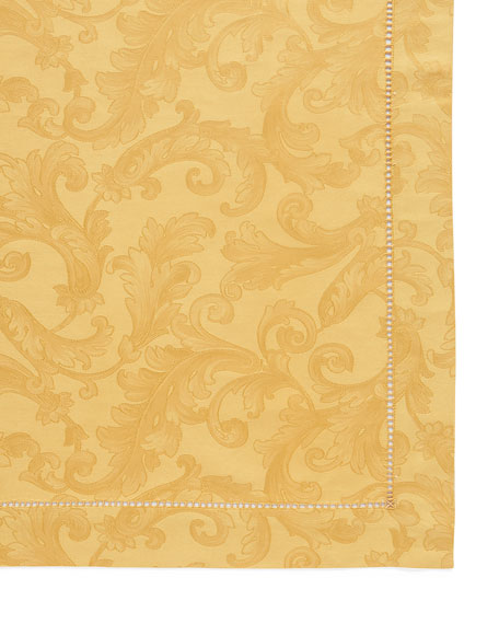 "Plume Jacquard 70"" x 144"" Tablecloth"