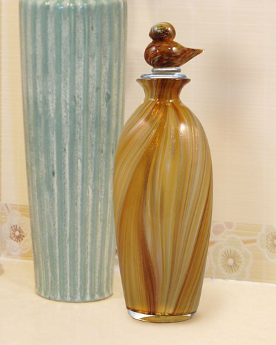 Wheat Tall Hand-Blown Art Glass Vase