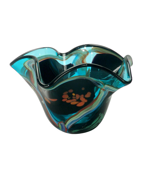 Seapointe Hand-Blown Art Glass Vase