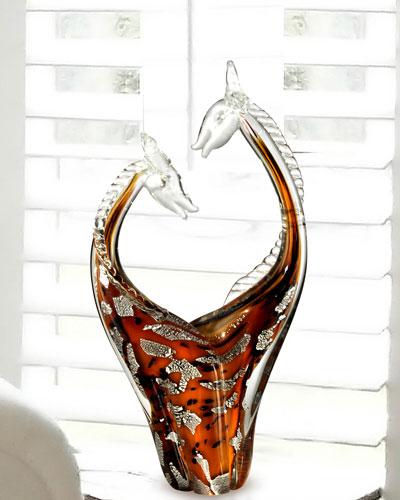 Affectionate Art Glass Sculpture