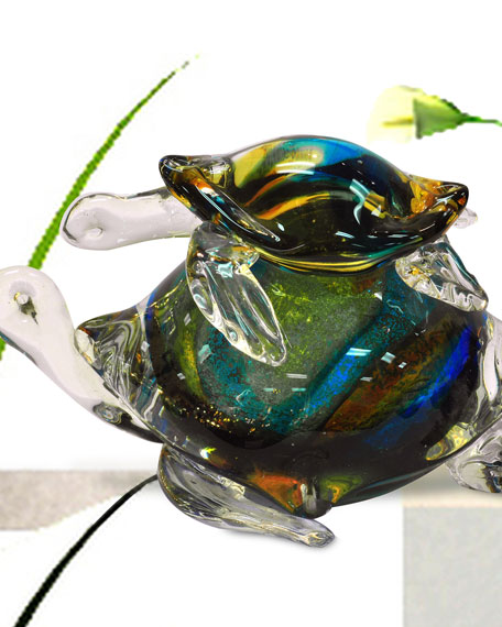 Colorful Sea Turtle Figurine