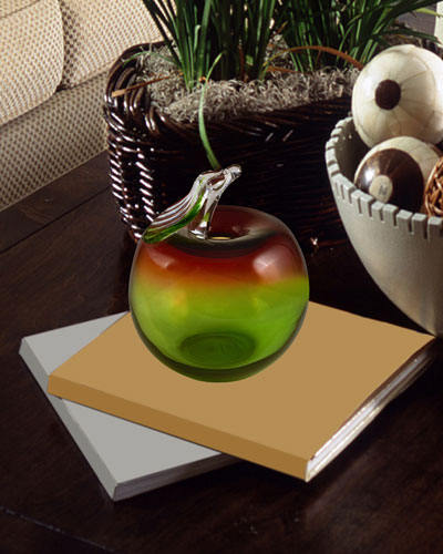 Big Apple Art Glass Sculpture