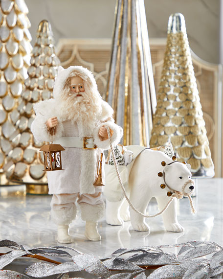Bethany Lowe Winter Santa with Polar Bear