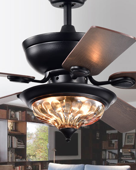 """Micago Forged Black 52"""" Lighted Ceiling Fan"""