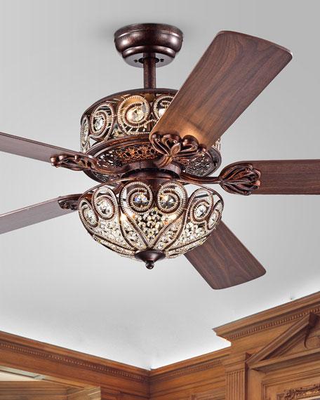 """Boot Rustic Bronze 52"""" Ceiling Fan"""