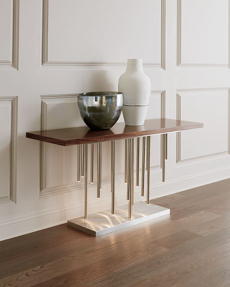 Illuminated Console in Stainless Steel
