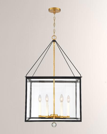 Weston 6-Light Black & Antique Gold Lantern