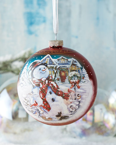 An Old Fashioned Christmas  Limited Edition Glass Ball Ornament