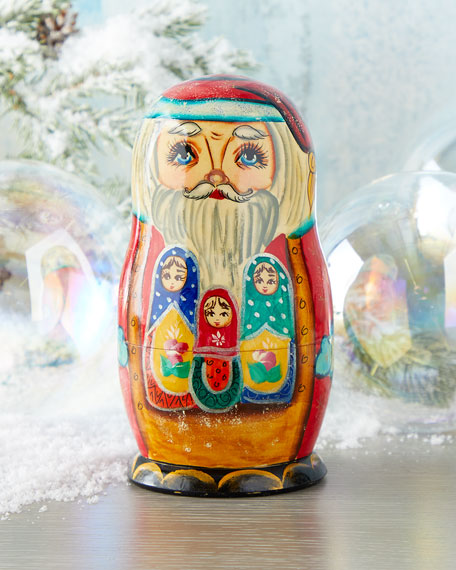 Family Santa Nesting Dolls, Set of 5
