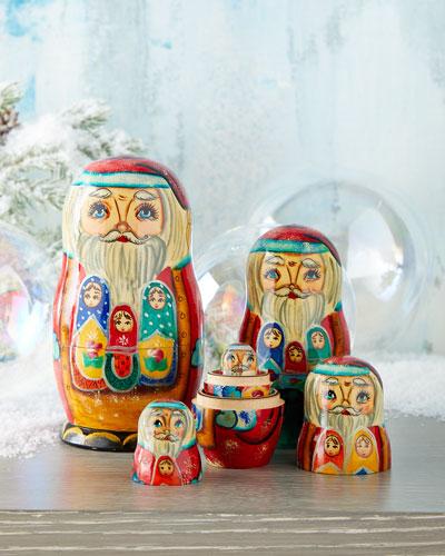 Family Santa Nesting Dolls  Set of 5