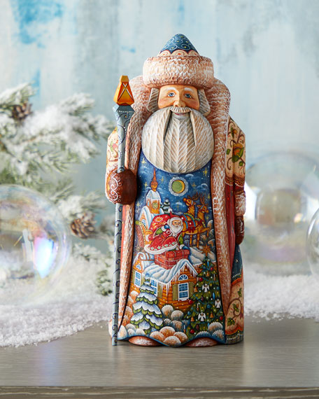 G. Debrekht Special Delivery Wood-Carved Santa, Limited Edition