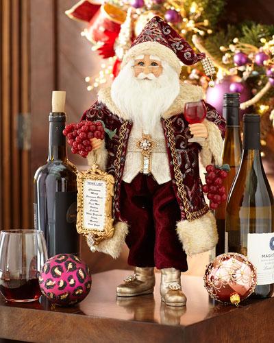 Sparkling Burgundy Santa