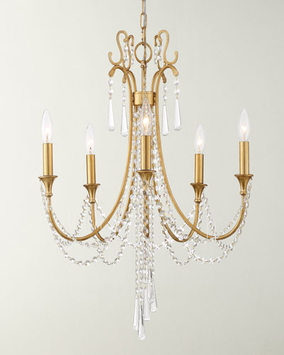 Arcadia 5-Light Antique Gold Chandelier