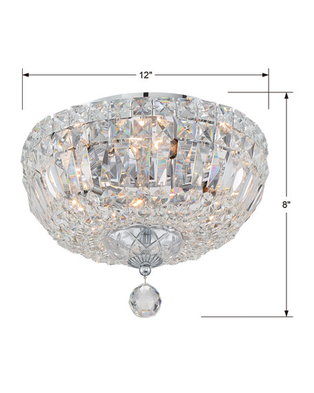Roslyn 4-Light Chrome Ceiling Mount
