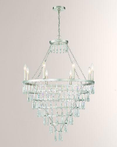 Lucille 8-Light Antique Silver Chandelier