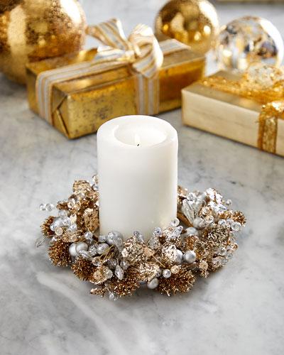 Metallic Elegance Candle Ring
