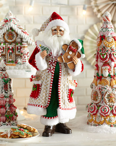 Whimsical Gingerbread Santa